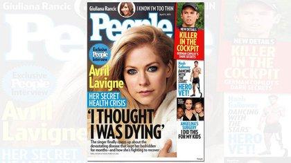 """La cantante Avril Lavigne y su dura confesión en abril de 2015 para la revista People: """"Pensé que iba a morir"""""""
