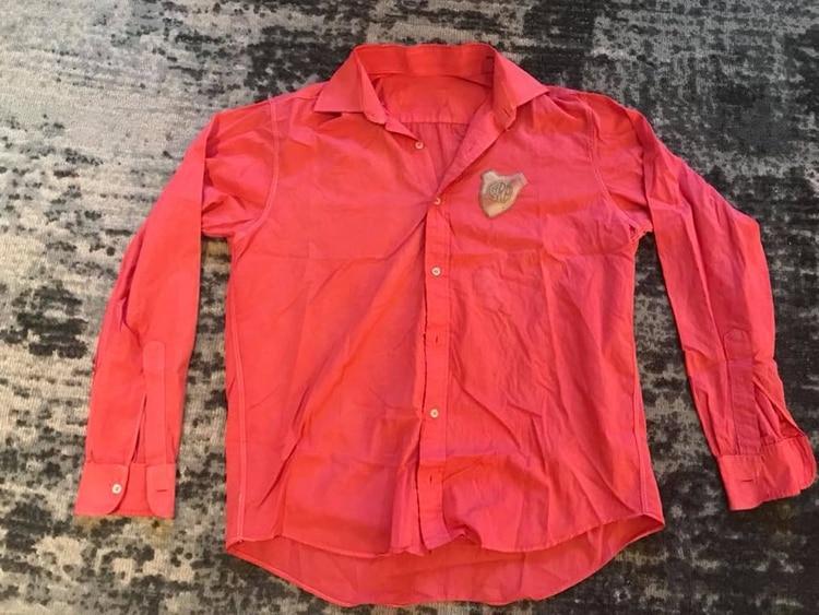 Una de las camisas que usó River a lo largo de 1960 614a725907e6f