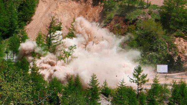 Kim ordenó la destrucción de al menos parte del centro nuclear de Punggye-ri (AP)