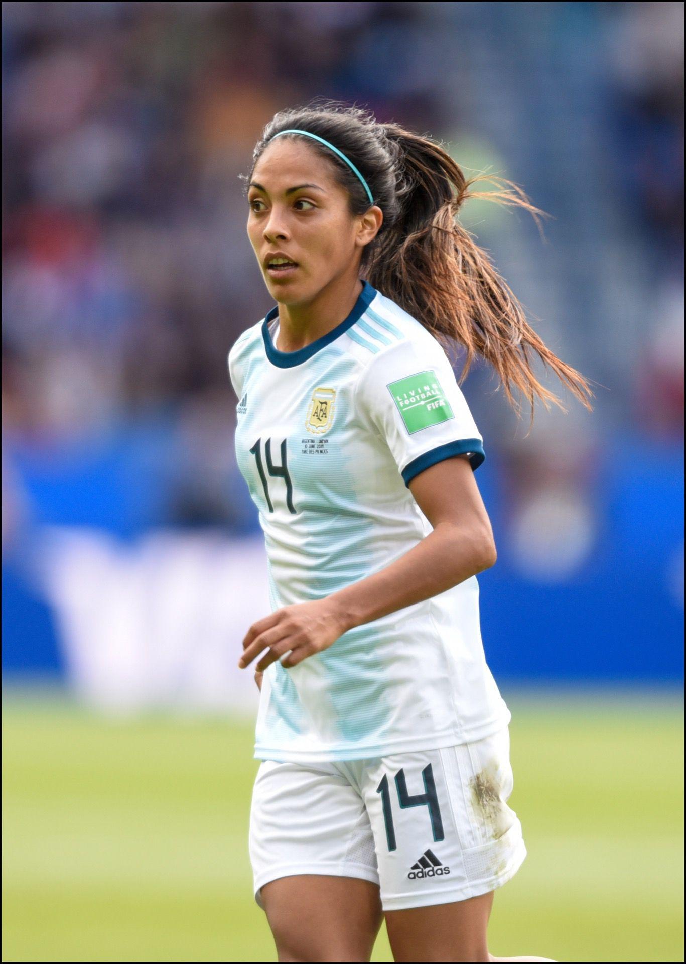 Adriana Sachs, jugadora de la selección argentina en el Mundial de Francia.