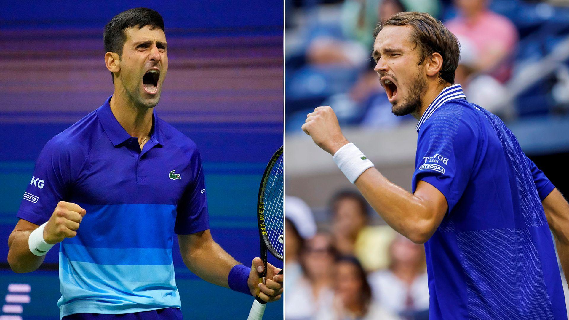 Partida - Novak Djokovic y Daniil Medvedev