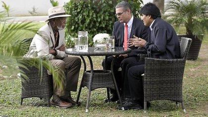 En Bolivia, Freeman se reunió con el presidente Evo Morales (EFE)