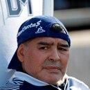 En la imagen, el director técnico de Gimnasia y Esgrima, Diego Maradona (c). EFE/Demian Alday Estévez/Archivo