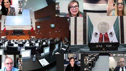 Senadores y diputados del PAN respaldaron los cuestionamientos de Lilly Téllez contra la vacuna rusa (Foto: Cortesía PAN)
