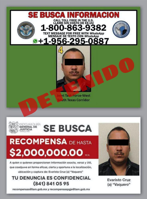 detención Evaristo Cruz El Vaquero (Foto: Twitter@Narcostudios701)
