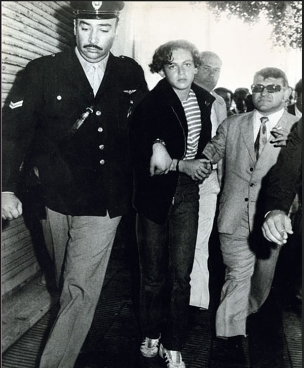 Robledo a sus 20 años, detenido y encarcelado en 1972. A los argentinos les costaba relacionar esa cara angelical con la terrible serie de asesinatos cometidos. (Foto: archivo Gente)