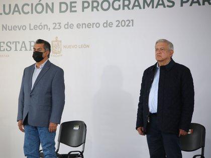 El último evento público en el que participó AMLO fue en la Evaluación de Programas para el Bienestar en el Municipio de Linares en compañía de Jaime Rodríguez, gobernador de Nuevo León. (Foto: Twitter @JaimeRdzNL)