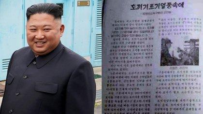 Kim Jong-un y el documento publicado por el Guró Político General en julio llamando a los soldados a criar más conejos
