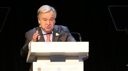 En la imagen, el secretario general de la ONU, António Guterres. EFE/Ali Haider/Archivo