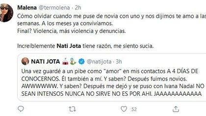 El mensaje de Nati también abrió las puertas para que sus seguidores se animen a contar situaciones dolorosas que tuvieron que atravesar en el pasado (Foto: Twitter)