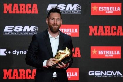 Lionel Messi marcó 36 goles en la liga española (Photo by Josep LAGO / AFP)