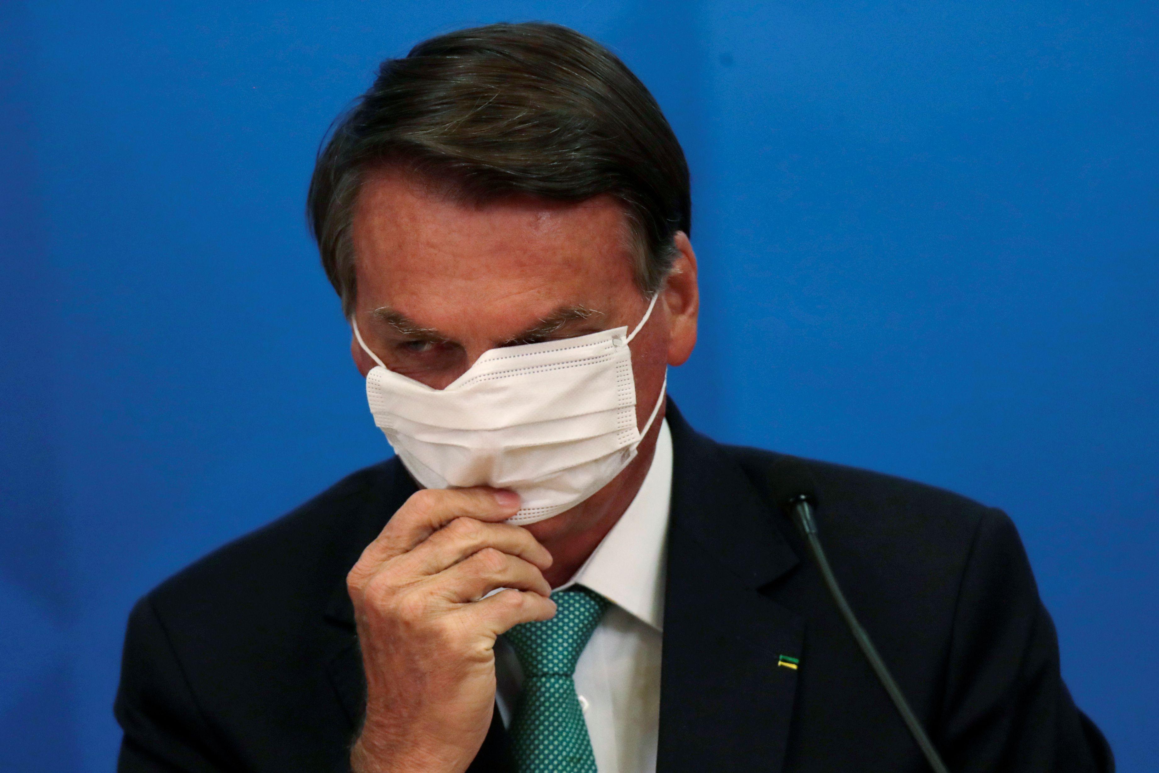 El presidente de Brasil, Jair Bolsonaro  REUTERS/Ueslei Marcelino
