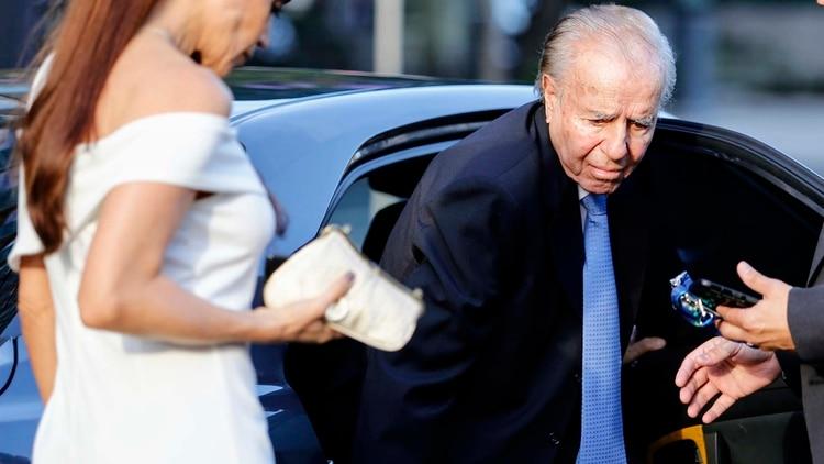 El ex presidente Carlos Menem en una de sus últimas apariciones públicas (Nicolás Aboaf)