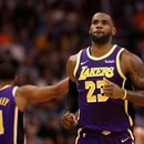 PHOENIX, ARIZONA - NOVEMBER 12: LeBron James #23 of the Los Angeles Lakers during the NBA game against the Phoenix Suns at Talking Stick Resort Arena on November 12, 2019 in Phoenix, Arizona. The Lakers defeated the Suns 123-115. NOTE TO USER: User expressly acknowledges and agrees that, by downloading and/or using this photograph, user is consenting to the terms and conditions of the Getty Images License Agreement Christian Petersen/Getty Images/AFP