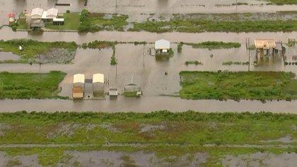 Las viviendas inundadas en Texas