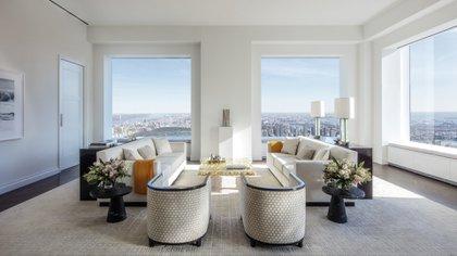 El rascacielos tiene departamentos que van desde un solo ambiente (32.6 m²) hasta la seis habitaciones (766.9 m²). (StreetEasy)