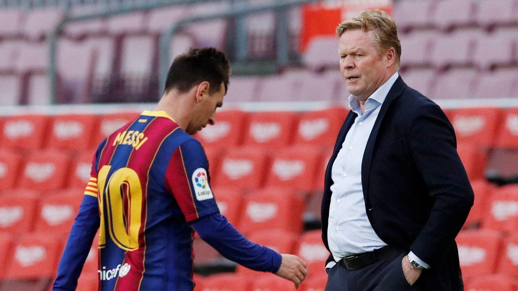 Koeman aseguró que el peor momento desde su llegada a Barcelona fue la salida de Messi (REUTERS/Albert Gea)