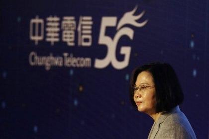 La presidente de Taiwán Tsai Ing-wen durante un acto en Taipei (REUTERS/Ann Wang)