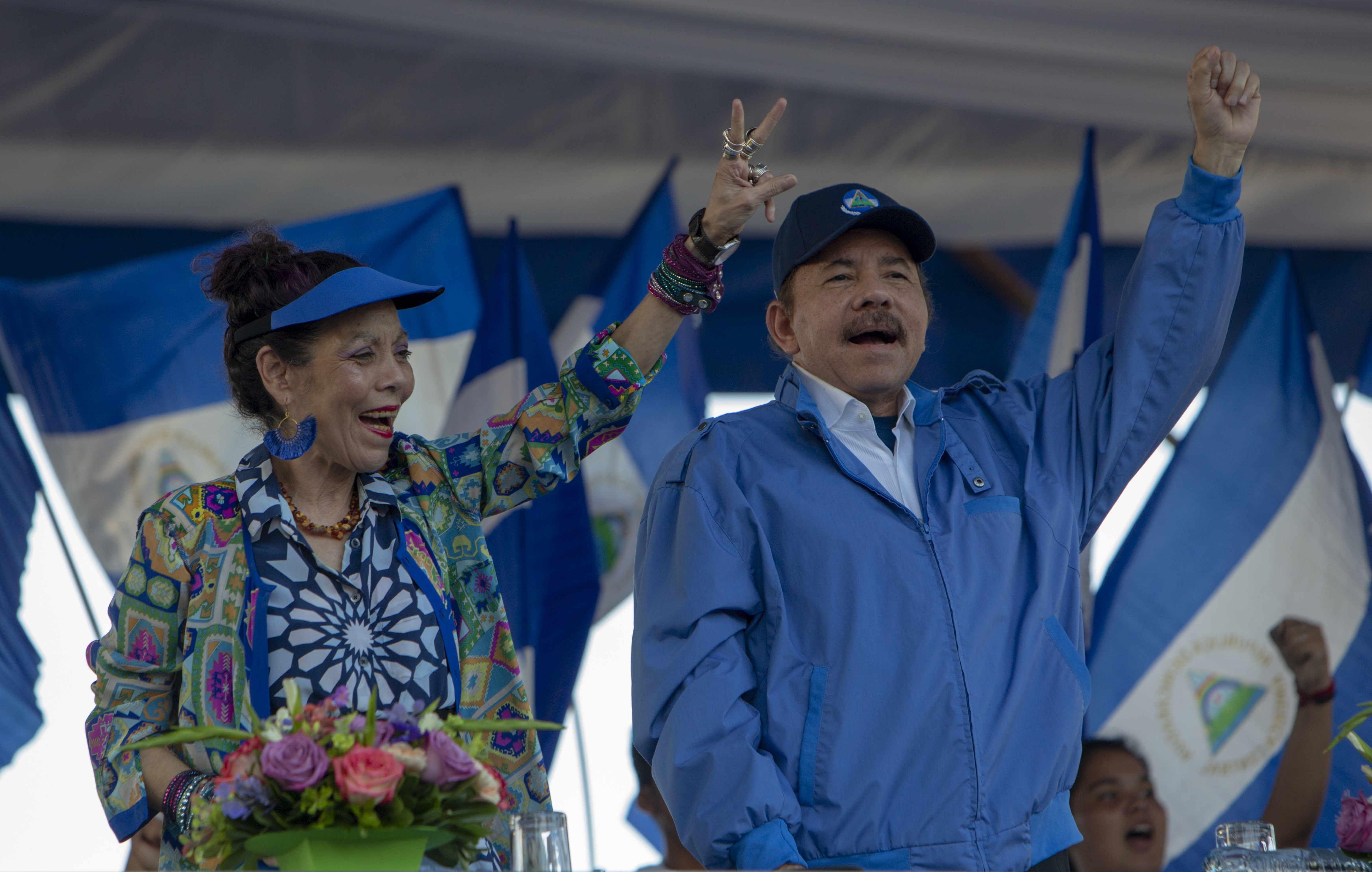 Daniel Ortega y su esposa y vicepresidente, Rosario Murillo, planifican una elección amañada, la única posibilidad de continuar en el poder tras 14 años en una Nicaragua en plena crisis social y política