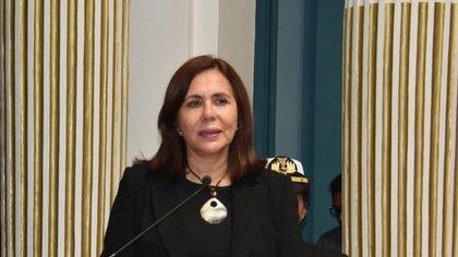 Karen Longaric, canciller de Bolivia (Cancillería)