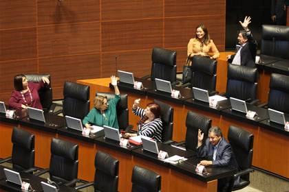 Una parte de la oposición estuvo ausente en protesta por la no suspensión de las sesiones en medio de la epidemia de coronavius (Foto: Cuartoscuro)