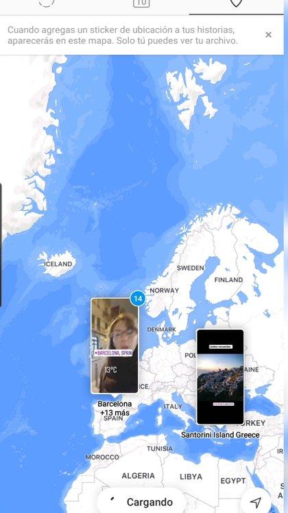 El contenido del archivo se puede visualizar en un mapa