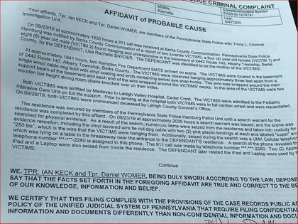Los oficiales Ian Keck y Daniel Womer atendieron la llamada de emergencia de Snyder en el domicilio de Albany Township (Foto: Captura de pantalla)