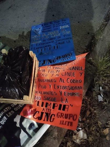 Supuestos narcomensajes del CJNG responzabilizaron al Cártel de Santa Rosa de Lima de ataques y extorsiones en el mercado de Salamanca, taquería de Irapuato, y bar de Jaral (Foto: Especial)
