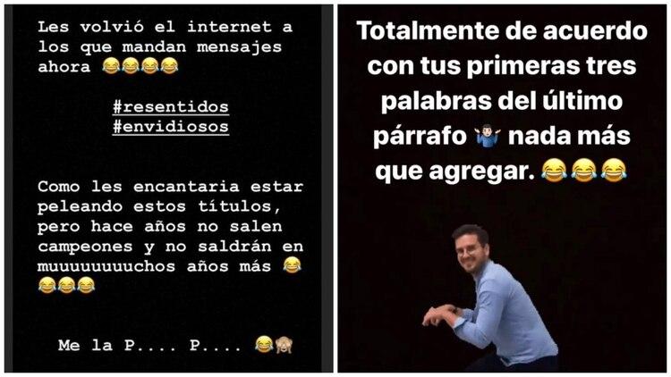 Las declaraciones de Nicolás Castillo en Instagram. (Captura de pantalla)