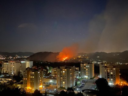 Incendio entre Huixquilucan y Cuajimalpa (Foto: @santidesla)