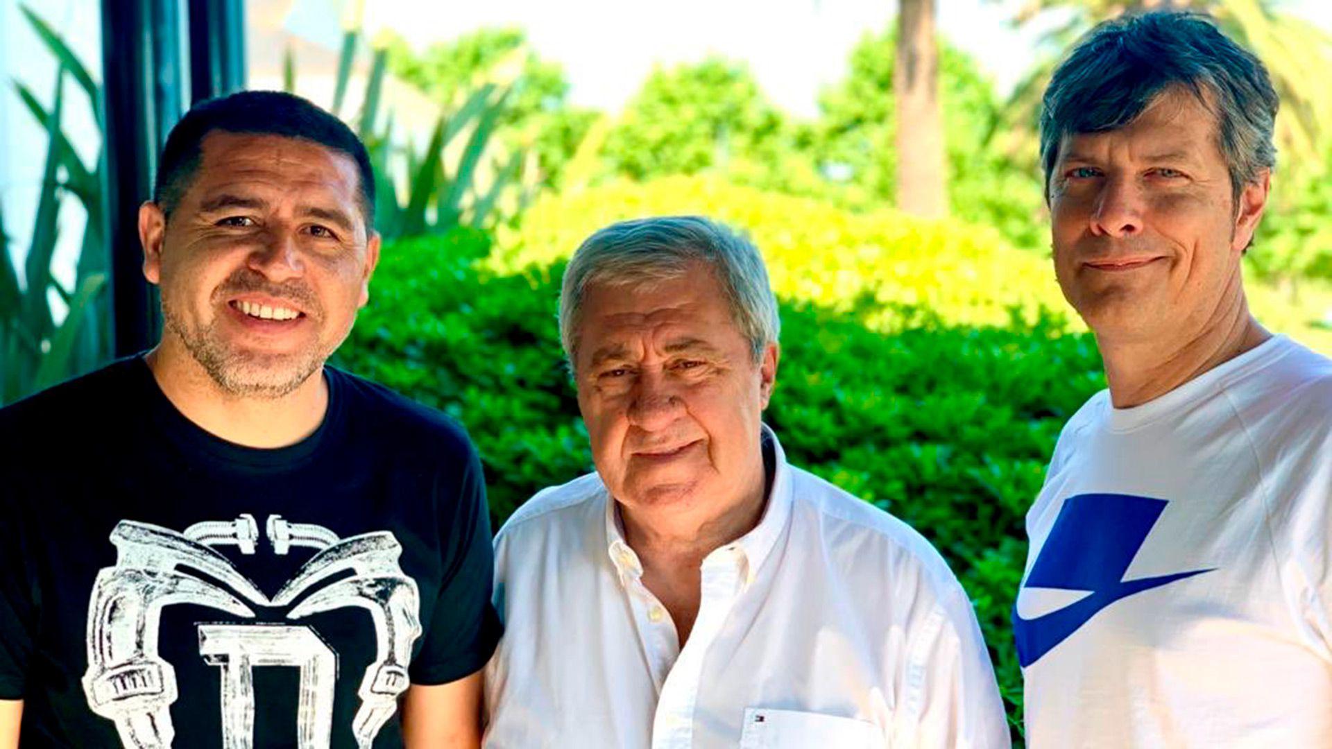 Román Riquelme, Jorge Ameal y Mario Pergolini.