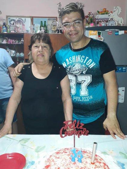 María del Carmen y su hijo menor, Sergio