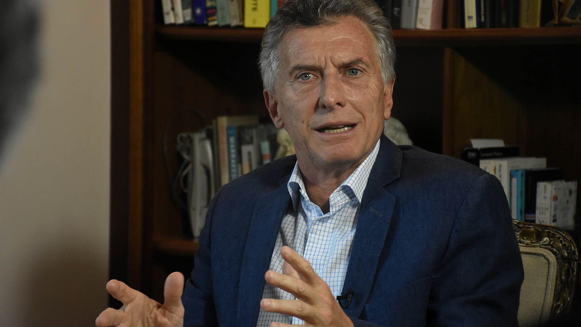 Mauricio Macri entrevista para Infobae