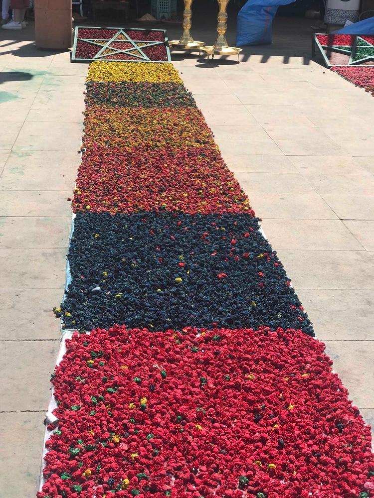 Poutpourri de flores secas en Medina de Marrakesh