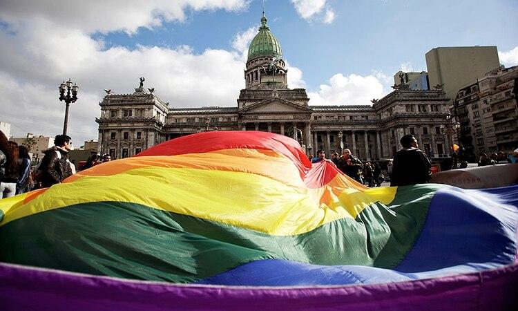 Debate en el Senado del matrimonio igualitario (Foto:AP)