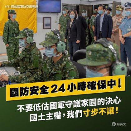 El mensaje de la presidenta Tsi al gobierno chino enviado a través de Facebook.