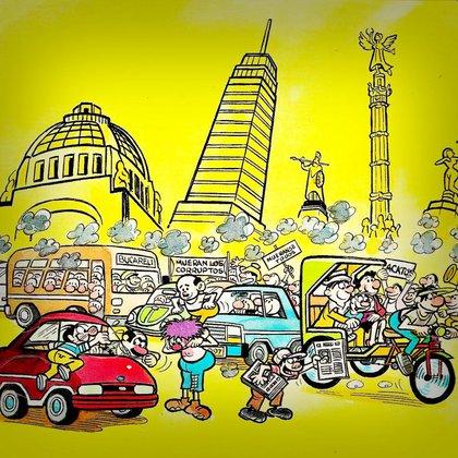 """Junto a su contemporáneo Gabriel Vargas, creador de las historietas de """"La familia Burrón"""", alimentó el imaginario urbano de la capital (Foto: Archivo)"""