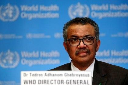 Foto de archivo del Director General de la OMS, Tedros Adhanom Ghebreyesus, en un rueda de prensa en Ginebra [28 de febrero de 2020] (Reuters/ Denis Balibouse)