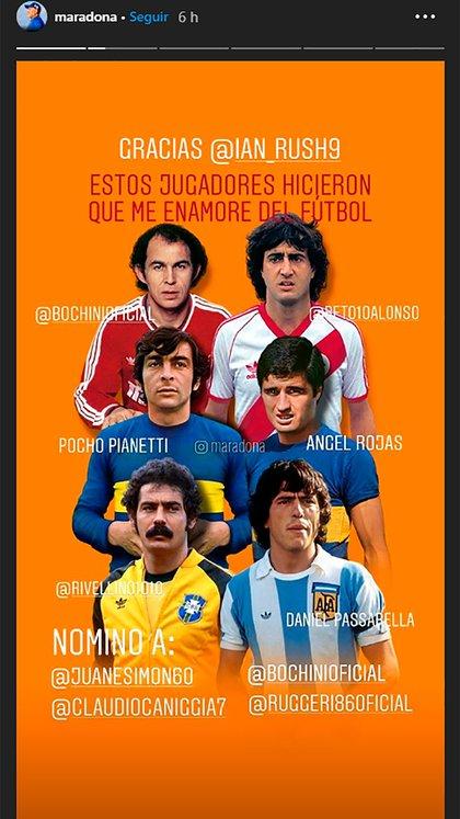 Las seis elecciones de Maradona
