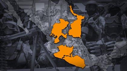 Las alianzas del CJNG son con cárteles disminuidos y aún sin vivir su apogeo sus operaciones de tráfico son considerables  (Ilustración Infobae/ Isaac Vallejo)