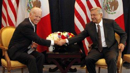Joseph Biden y AMLO en una reunión de 2012 (Foto: Cuartoscuro)