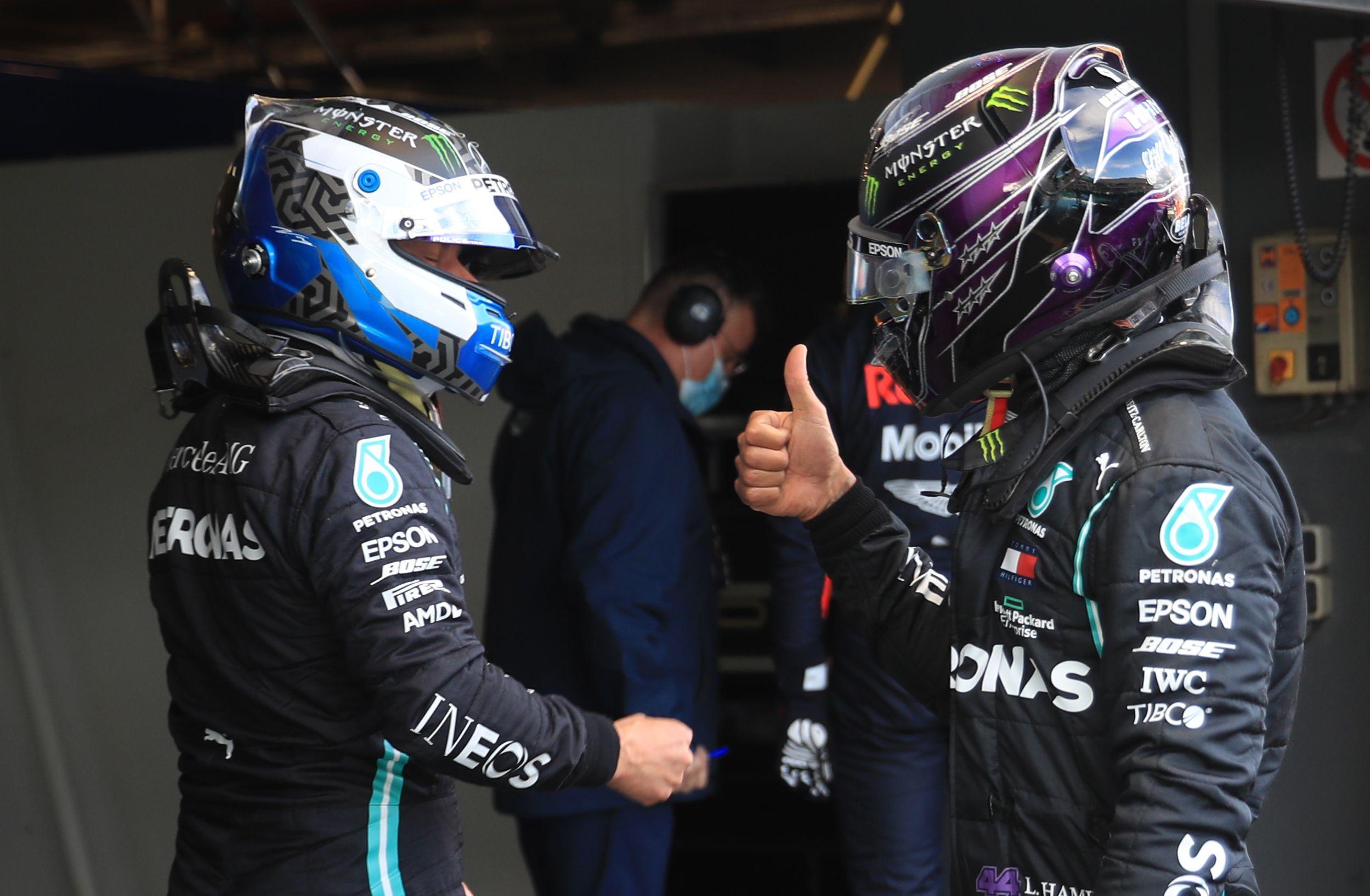 Valtteri Bottas saldrá desde la pole y Hamilton en el segundo lugar. Verstappen lo hará en el tercero