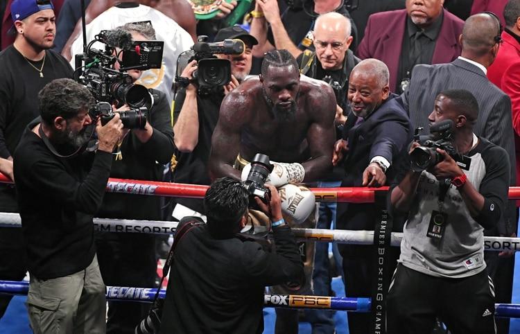 Wilder se quedó con el cinturón de los pesos pesados de la CMB Ethan Miller/Getty Images/AFP