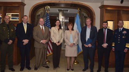 Patricia Bullrich durante su reciente viaje a Washington.