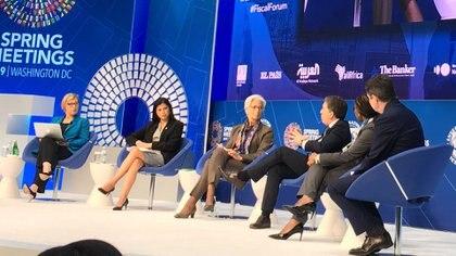Dujovne y Lagarde en la capital de EEUU, el domingo pasado