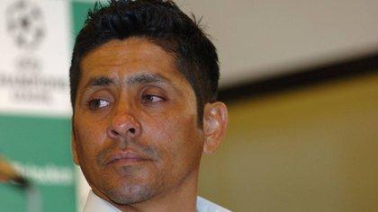 """""""Este es un súper portero, no tienen que estár chingand#"""", declaró Campos ante la sonrisa de Ochoa. (Foto: Cuartoscuro)"""