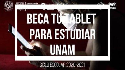 Beca tu tablet para estudiar UNAM(Foto: Captura de Pantalla)