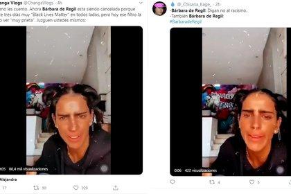 Bárbara se convirtió en tendencia en Twitter por su reacción