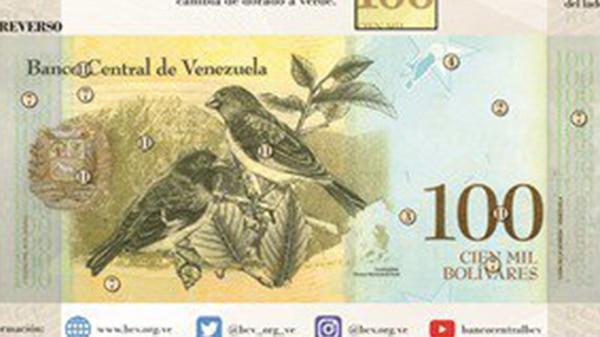 Risultati immagini per nuevo billete venezuela cien mil bolivar