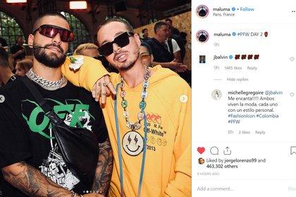 Los intérpretes de música urbana han sido egercido una gran influencia en la indsutria de la moda internacional (Foto: Instagram Maluma)